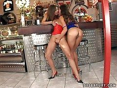 Smoking hot young beauty Zafira with tight delicacy ass together with