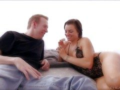 Hot with an increment of arousing tyro brunette girl Belladonna enjoys with reference to showing