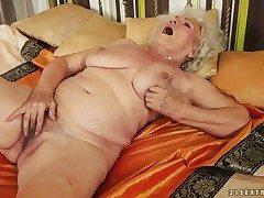 Easy on the eyes hot stunner Norma almost heavy melons has fire
