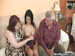 She is seduced by his elderly parents