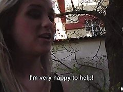 Fair haired Czech female next door Vinna Reed takes fortunate