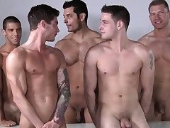 Male model fuck-fest after some professional posing