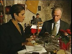 Elegant Italian Mature cheating hubby on restaurant