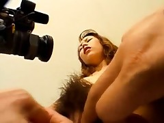 Ayumi Natsukawa deep-throats cocks and is recorded while is screwed