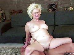 Objurgative more than pale chunky mature tow-haired whore with chunky drapery